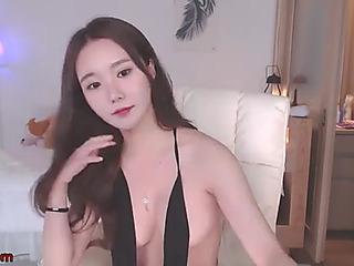 Korean super hawt model striptease