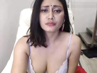 Hot bengali piece of baggage masturbating and grousing HD
