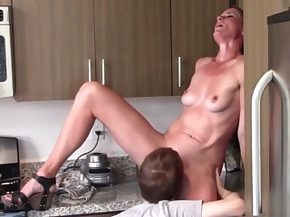 Oral coition mother with an increment of son (Sofie Marie)