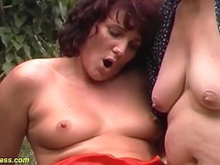 extreme wild german outdoor family therapy triplet anal fuck orgy with our tasteless heavy grandma
