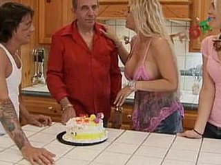 Family Sex At Birthday Party