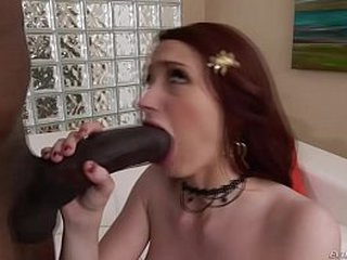 Backdrop sized black load of shit stretches Violet Monroe's holes
