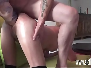 Double fisting added up dildo fucking their way holes