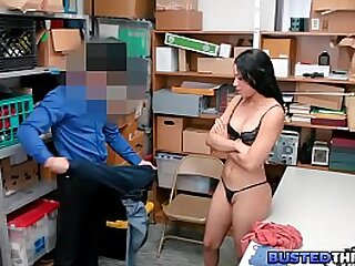 Ebony Teenager Fucked By Security Officer