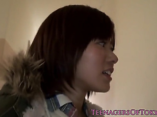 Cocksucking japanese legal age teenager screwed foreign behind