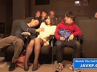 Sexy oriental legal age teenager at rub-down the peel scenes jav