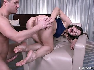 Teen Mari Moore fucked in be imparted to murder ass with big cock – First Anal Quest!