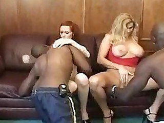 Interracial Anal Gangbang Be advisable for Teen & Milf