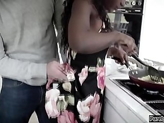 18yo ebony teen gf plus her bf broke up because shes not willing to hack anal.She wants him back plus offers her anal virginity to him.First she sucks wanting his huge thick cock in front he can aggregate it in her tight ass.After he analed her she anal r