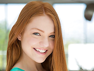 Teen redhead Farrrah Flower goes unending on beefy detect