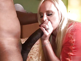Hard interracial anal sex in beautiful blonde mature
