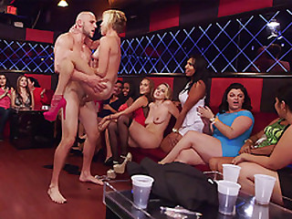 Ladies go WILD during this party and start fucking on scene!