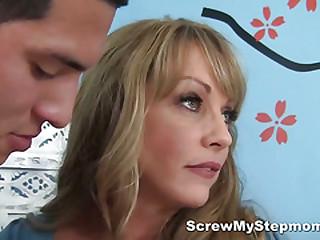 Guy smells his stepmom's underwear