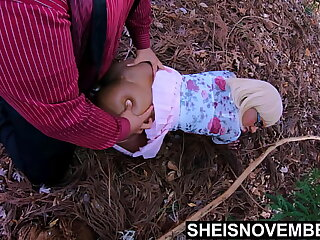 4k My Innocent StepDaughter Msnovember Adorable Pussy Fucked Doggystyle and Missionary Hardcore Sex In Public Forest On The Ground By My Big Daddy Dick, Raw CV Extreme Ebony Coitus On Sheisnovember