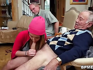 Kinky dude watches as Gigi Flamez & Debt Squirt are being fucked