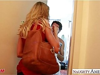 Busty tow-headed mom Brandi Love making out