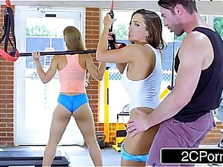 Big Teat Chicks Fuck Appropriateness Instructor in a Gym - Abigail Mac, Nicole Aniston