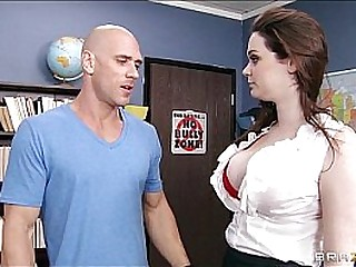 HOT teacher Tessa Lane lets her student motorboat her Bristols