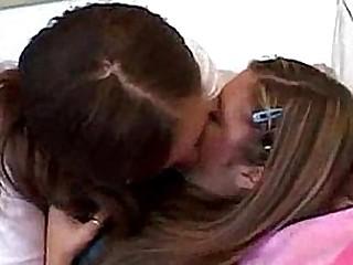 Teen Topanga banging her girlfriend, kissing and loving her erotically